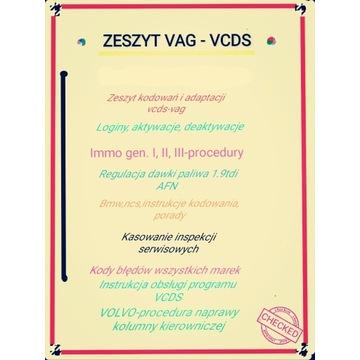 Zeszyt kodowan, adaptacji vcds/immo,bmw, kody EOBD