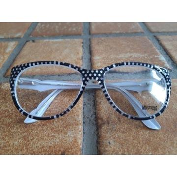 Oprawki okulary Moschino kropki NOWE
