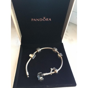 Bransoletka Pandora ! 3 charmsy ! z pudełkiem !