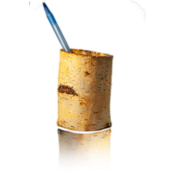 Pojemnik drewniany na długopisy, ołówki, 9x7cm