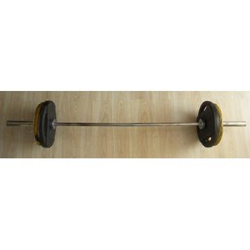 Sztanga 100 kg - gryf 20 kg + talerze 80 kg