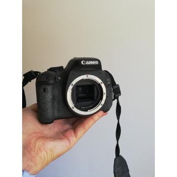 Lustrzanka cyfrowa Canon 600d body z dodatkami