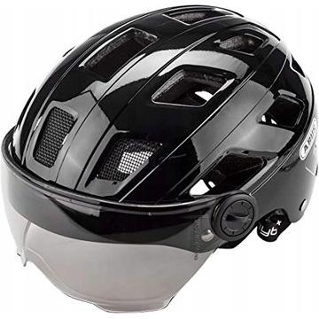 ABUS HYBAN + smoke visor black  L - 56 - 63 NOWY !