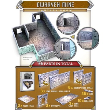 Dwarven mine fantasy room Dungeons and Lasers 2