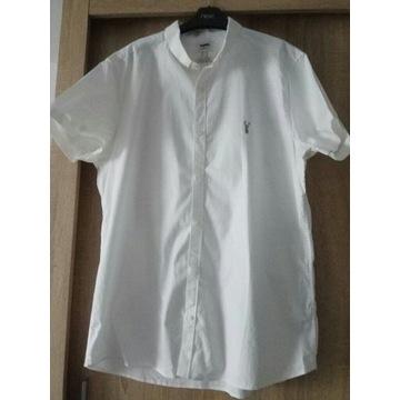 Next biala koszula krotki rekaw bawelna rozmiar XL