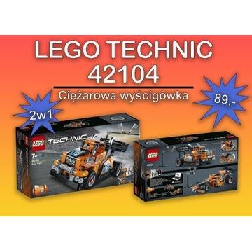 Nowe Lego 42104 Technic- ciężarowa wyścigówka-2w1