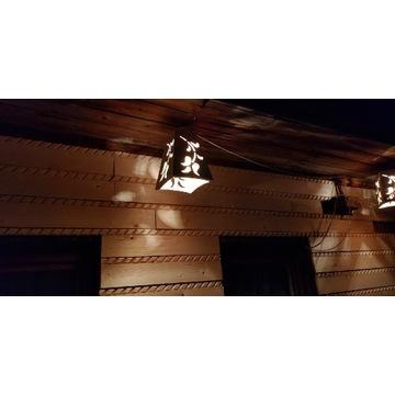 Lampa drewniana  stary styl śliczna