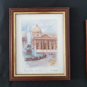 Obraz, obrazy, komplet obrazów, Rzym, architektur