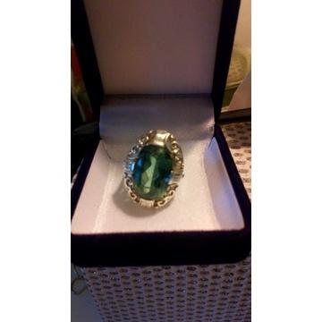 Stary przedwojenny pierścionek 925 srebro