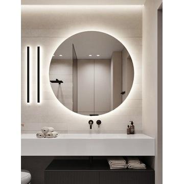 Lustro łazienkowe okrągle, podświetlane led! 90cm