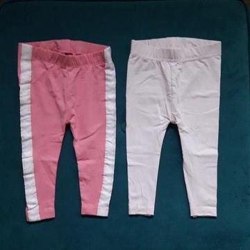 Nowe różowe legginsy. 2 szt.  R.62-68