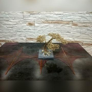 Drzewko bonsai z drutu, żywica epoksydowa