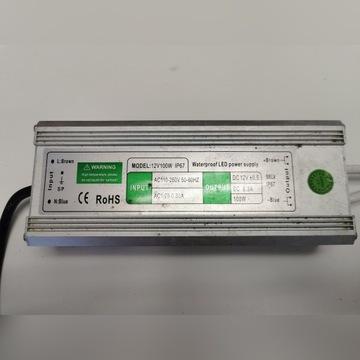 Zasilacz IP67 12V, 100W, 8.3A