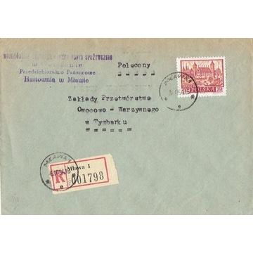 Mława - Koperty listów poleconych 1960-80