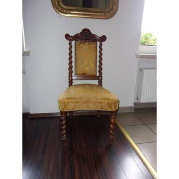 XIX w .Neobarokowe krzeselko z oryg. tapicerką