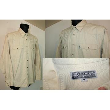 JEP'S beżowa męska koszula bawełna Rozmiar: XL