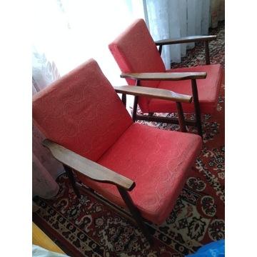 Fotel lisek b-7727 PRL x 2szt