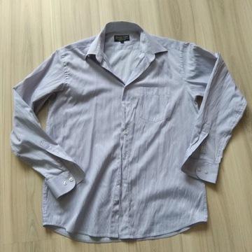 Męska koszula fioletowa paski