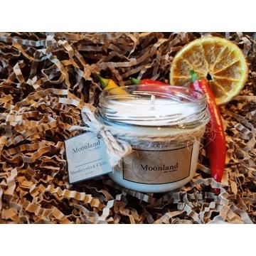 Zapachowa świeca sojowa Moonland Mandarynka Chili