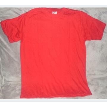 Koszulka T-shirt czerwona rozmiar XXL na nadruki