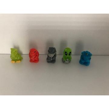 Squinkies gumowe figurki smoki,kosmici.5szt.