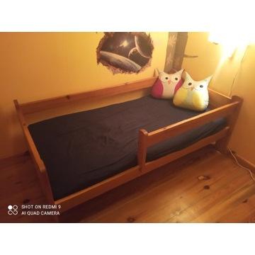 Łóżko dziecięce drewniane z materacem 80x160