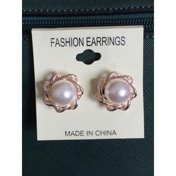 Klipsy z imitacją perły