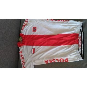 Koszulka i spodenki rowerowe patriotyczne