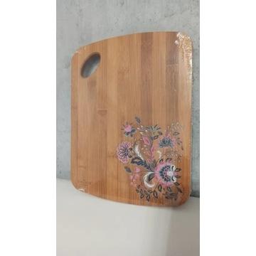 nowa bambusowa drewniana deska smukee kwiaty kwiat