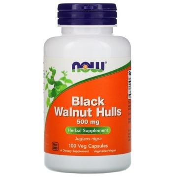 Czarny Orzech Black Walnut Hulls 500 mg NOW FOODS