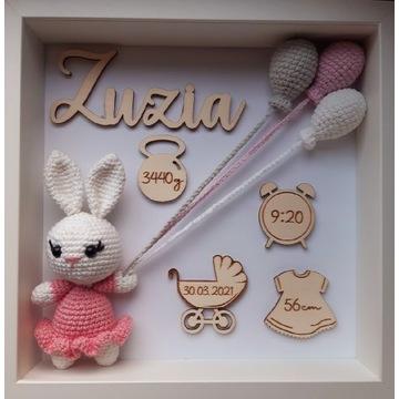 Metryczka dla dziecka handmade