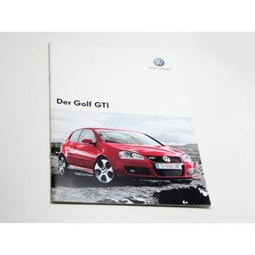 Prospekt VW Golf V GTI 09-2005 28str