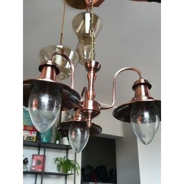 Lampa wisząca, żyrandol, stylizowana na XIXw,