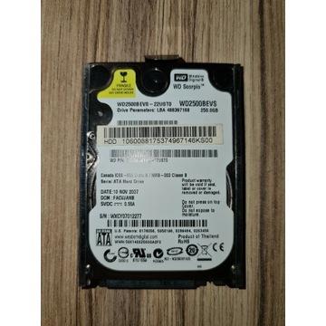 Dysk do laptopa WD2500BEVS 250GB sprawny