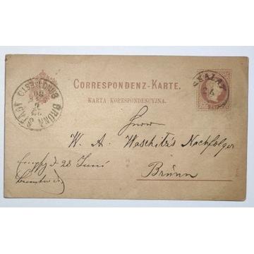 CP 4b Karta Korespondencyjna SKALAT 1880