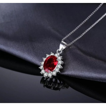 Zestaw biżuterii z krwistymi naturalnym Granatami