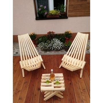 Krzesło ogrodowe. Leżak ogrodowy. Zestaw wypoczynk