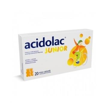 Acidolac Junior o sm. pomara. 20tab data 30.09.20