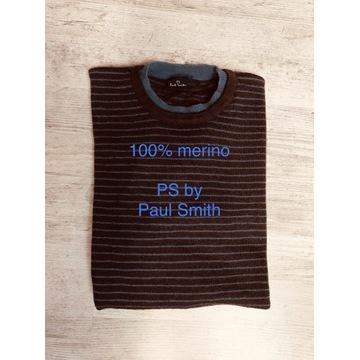 PS by Paul Smith NOWY męski sweter 100% merino