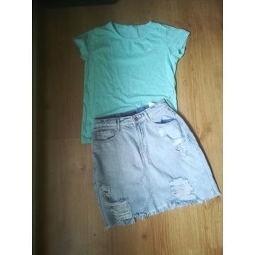 Reserved spódnica, bluzka i szaliczek r 158