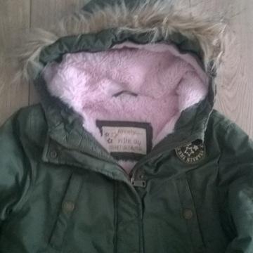 Kurtka parka zimowa dla dziewczynki 152
