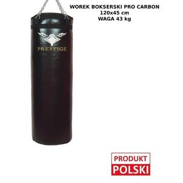 WOREK BOKSERSKI PRO CARBON 120x45 PEŁNY 43KG
