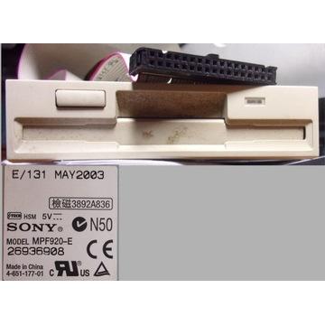 Napęd Dyskietek FDD 1,44 3,5'' Sony MPF920E +taśma