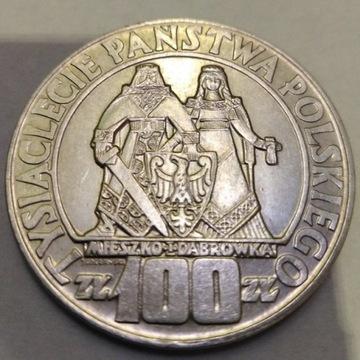 MONETA 100 ZŁ 1966 r MIESZKO I DĄBRÓWKA