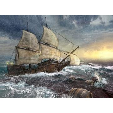 FigARTo obraz na płótnie Statek 50x70 cm