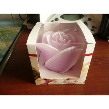 świeca zapachowa RÓŻA 30h kolor różowy