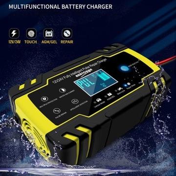 Automatyczna ładowarka do akumulatorów 12V 24V 8A