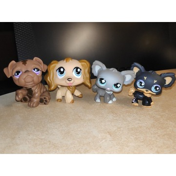 LPS Littlest Pet Shop 4 pieski spaniel #1318 pop