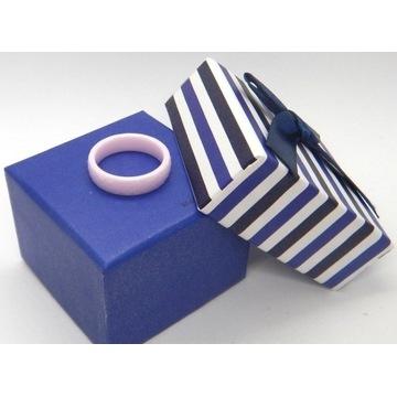 Pierścionek obrączka ceramika Blueberry /1pb/