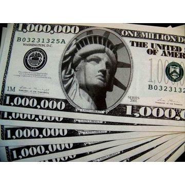 PAKIET 5 x BANKNOT 1.000.000 USD $$$$$$